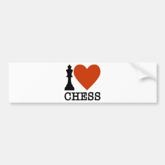 I Heart Chess Bumper Sticker