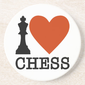 I Heart Chess Coaster