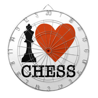 I Heart Chess Dartboard