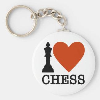 I Heart Chess Keychain