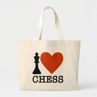 I Heart Chess Large Tote Bag
