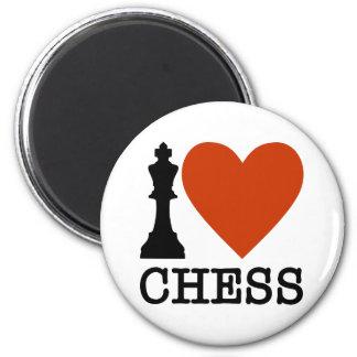 I Heart Chess Magnet
