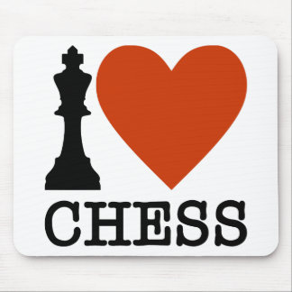 I Heart Chess Mouse Pad