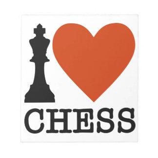 I Heart Chess Notepad