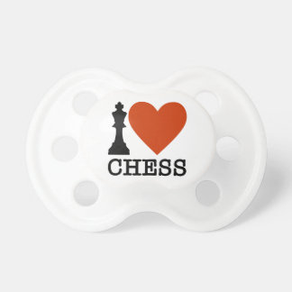 I Heart Chess Pacifiers