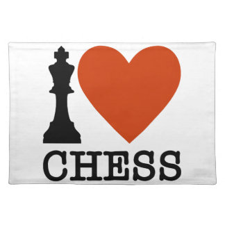 I Heart Chess Placemat
