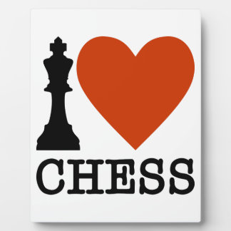 I Heart Chess Plaque
