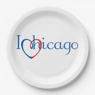 I Heart Chicago Paper Plate