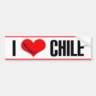 I heart Chile sticker. Bumper Sticker