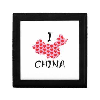 I heart China map Gift Box