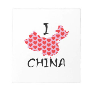 I heart China map Notepad