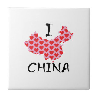 I heart China map Tile