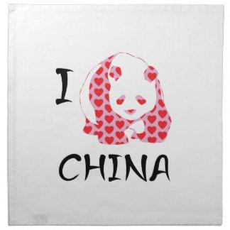 I heart China Napkin