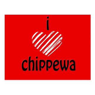 I Heart Chippewa (Red, Black) Postcard