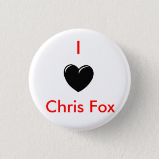 I Heart Chris Fox Button [White; Style 1]