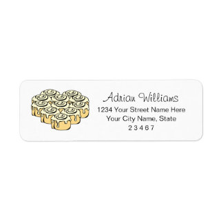 I Heart Cinnamon Rolls Sweet Love Bun Personalized Return Address Label
