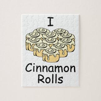 I Heart Cinnamon Rolls Sweet Love Buns Cute Puzzles