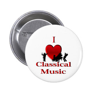 I Heart Classical Music 2 Inch Round Button