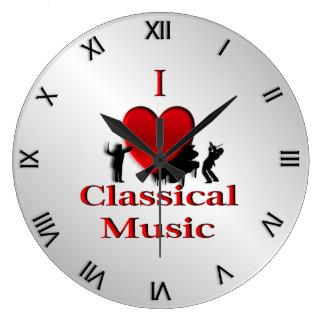 I Heart Classical Music Roman Numerals Wallclocks