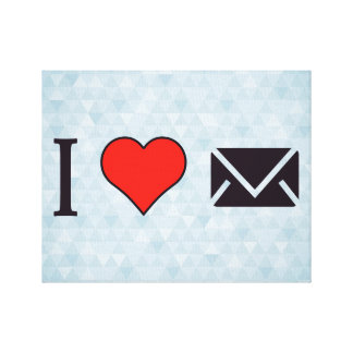 I Heart Closed Envelopes Gallery Wrapped Canvas