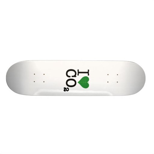 I Heart CO2 Skate Board Decks