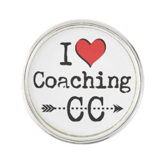 I heart Coaching Cross Country XC Coach Gift Lapel Pin