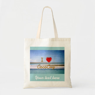 I Heart CocoCay with Name Tote Bag