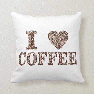 "I Heart Coffee Throw Pillow 16"" x 16"""