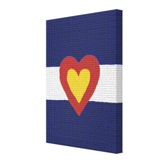 I Heart Colorado Flag Canvas Wall Art