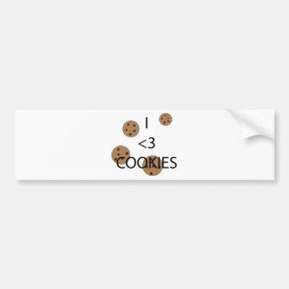 I heart cookies bumper sticker
