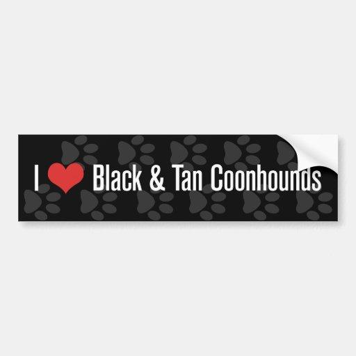 I (heart) Coonhounds (Black & Tan) Bumper Stickers