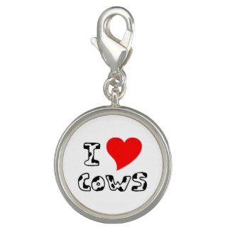 I Heart Cows Photo Charms
