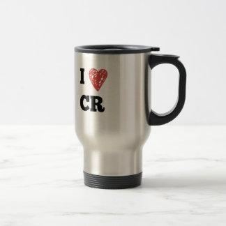 I Heart CR - Cedar Rapids Iowa Travel Mug