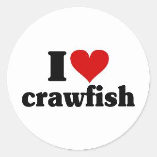 I Heart Crawfish Round Sticker