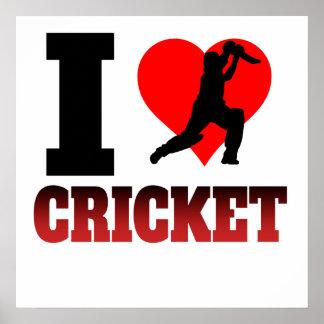 I Heart Cricket Poster