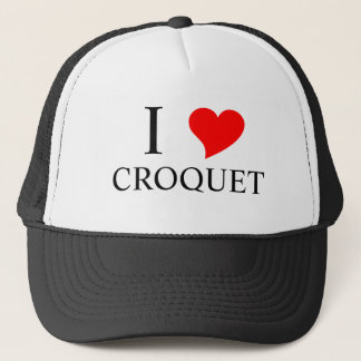 I Heart CROQUET Trucker Hat