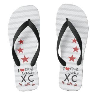 I heart Cross Country Running XC Flip Flops