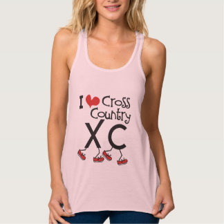 I heart Cross Country Running XC Flowy Racerback Tank Top