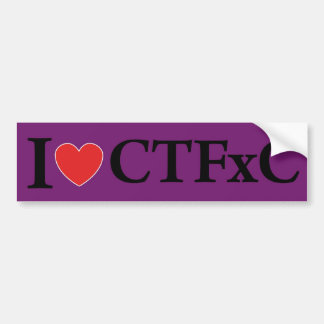 I Heart CTFxC Bumper Sticker (Purple)