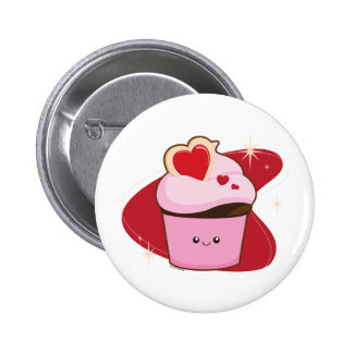 I Heart Cupcakes 2 Inch Round Button