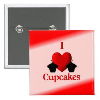I Heart Cupcakes Button
