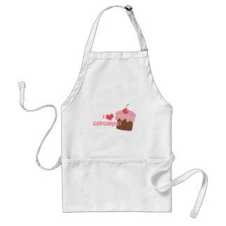 I heart cupcakes standard apron
