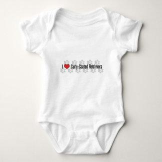 I (heart) Curly-Coated Retrievers Baby Bodysuit