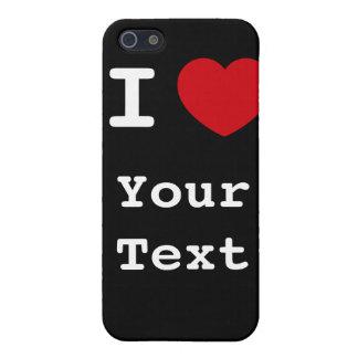 I Heart - Customize - Black Speck Case