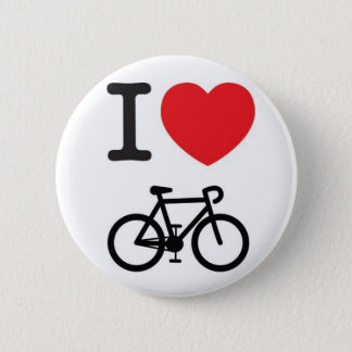 I <HEART> cycling 2 Inch Round Button