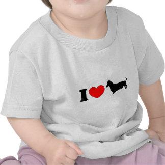 I Heart Dachshund - Landscape Tee Shirts