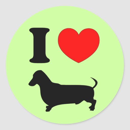 I Heart Dachshund Sticker