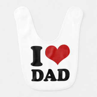 I heart Dad Bib