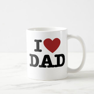 I heart dad classic white coffee mug