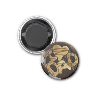 I heart DAD pancake Magnet